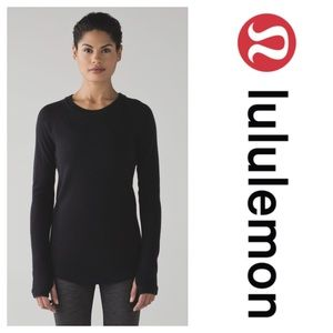 Lululemon Sit In Lotus Sweater Black Merino Wool 8